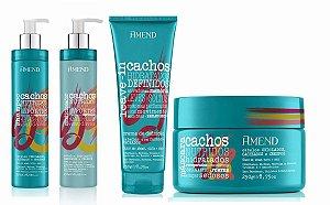 Amend Cachos - Kit Shampoo Condicionador Leave-in Cachos Fechados e Máscara