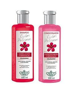 Flores e Vegetais Cachos Poderosos - Kit Shampoo e Condicionador