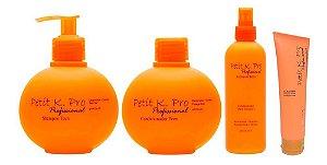 Kpro Petit - Kit Shampoo Condicionador Leave-in e Pomada Cola