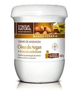 Dagua Natural Creme de Massagem Óleo de Argan 650g
