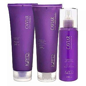 Kpro Caviar Color - Kit Shampoo Condicionador e Leave-in