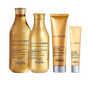 Loreal Serie Expert Nutrifier - Kit Shampoo Condicionador Creme de Pentear e DD Balm