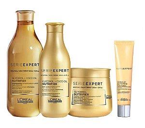 Loreal Serie Expert Nutrifier - Kit Shampoo Condicionador Máscara e DD Balm