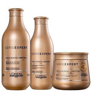 Loreal Serie Expert Absolut Repair Gold Quinoa - Kit Shampoo Condicionador e Máscara