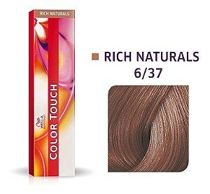 Wella Color Touch Tonalizante 6/37 Louro Escuro Dourado Marrom 60g