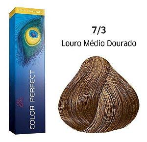 Wella Color Perfect Tinta 7/3 Louro Médio Dourado 60g