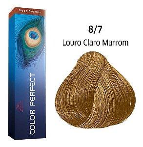 Wella Color Perfect Tinta 8/7 Louro Claro Marrom 60g