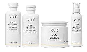 Keune Vital Nutrition - Kit Shampoo Condicinador Máscara e Protein Spray