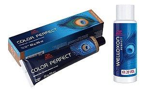 Wella Color Perfect Tinta 8/0 Louro Claro + Welloxon 20vol