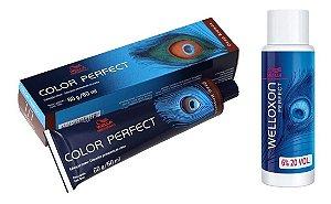 Wella Color Perfect Tinta 7/7 Louro Médio Marrom + Welloxon 20vol