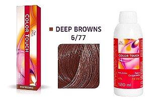 Wella Color Touch Tonalizante 6/77 Louro Escuro Marrom Intenso + Emulsão 13vol
