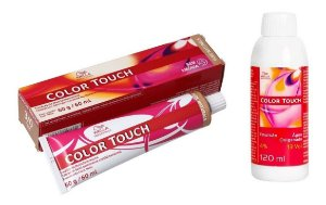 Wella Color Touch Tonalizante 3/0 Castanho Escuro + Emulsão 13vol
