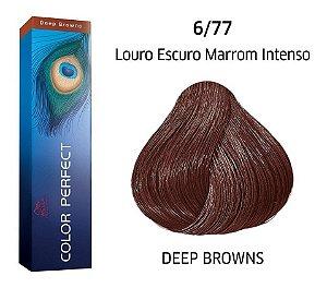 Wella Color Perfect Tinta 6/77 Louro Esc Marrom Intenso 60g