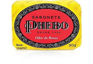 Phebo Sabonete Barra Odor de Rosas 90g