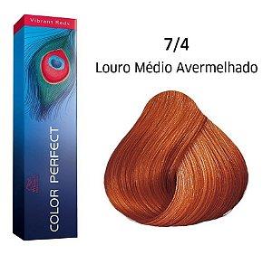 Wella Color Perfect Tinta 7/4 Louro Médio Avermelhado 60g
