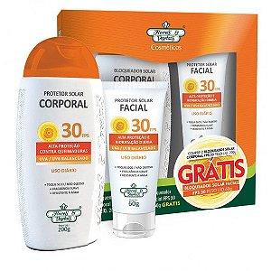 Flores e Vegetais Kit Protetor Solar Corporal + Protetor Solar Facial FPS30