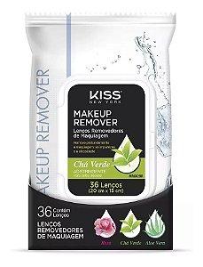 Kiss Lenços Removedores de Maquiagem Chá Verde