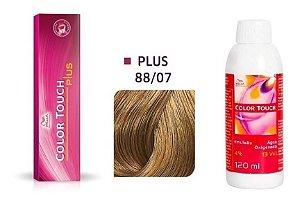 Wella Color Touch Plus Tonalizante 88/07 Louro Claro Intenso Natural Marro + Emulsão 13vol