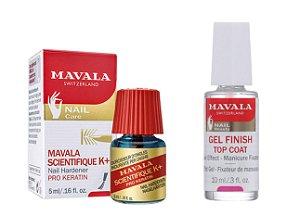 Mavala - Kit Endurecedor de Unhas Scientique K+ e Gel Top Coat