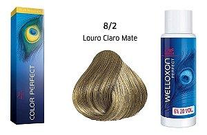 Wella Color Perfect Tinta 8/2 Louro Claro Matte + Welloxon 20vol