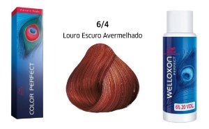 Wella Color Perfect Tinta 6/4 Louro Escuro Avermelhado + Welloxon 20vol