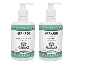 Granado Kit Chá Branco Sabonete Líquido Hidratante