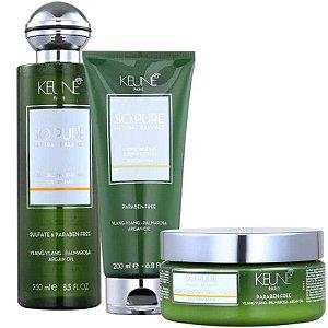 Keune So Pure Moisturizing Kit Shampoo Cond e Máscara
