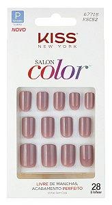 Kiss Unhas Postiças Salon Color Beautiful 28 unhas