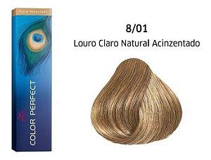 Wella Color Perfect Tinta 8/01 Louro Claro Natural Acinzentado 60g