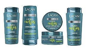 Lacan Hidra Cachos - Kit Shampoo Condicionador Máscara e Leave-in