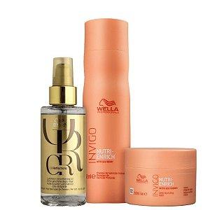 Wella Kit Invigo Nutri-Enrich Shampoo Máscara Oil Reflection