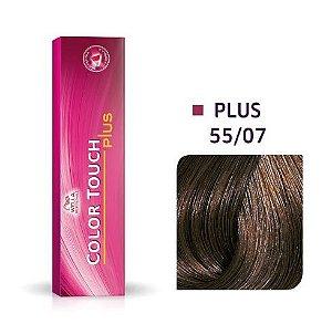 Wella Color Touch Plus Tonalizante 55/07 Castanho Claro Intenso Natural Marrom 60g