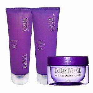 Kpro Caviar Color - Kit Shampoo Condicionador e Máscara
