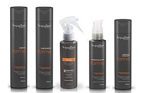 Acquaflora Forma Kit Completo Shampoo Condicionador Ativador Umidificador e Modelador