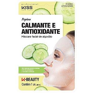 Kiss Máscara Facial de Algodão - Pepino Calmante