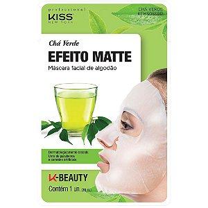 Kiss Máscara Facial de Algodão - Chá Verde Efeito Matte
