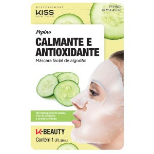 Kiss Máscara Facial de Algodão - Aloe Vera Calmante