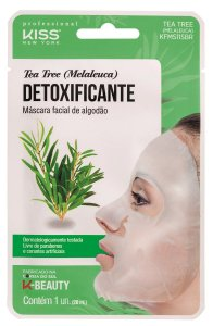 Kiss Máscara Facial de Algodão - Tea Tree Melaleuca Detox