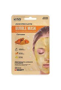 Kiss Máscara Facial Bubble Mask - Cúrcuma Desestressante