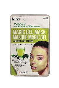 Kiss Máscara Facial em Gel Magic Gel - Chá Verde Matificante