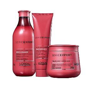 Kit Pro Longer Shampoo Máscara e Leave-in Loreal Expert