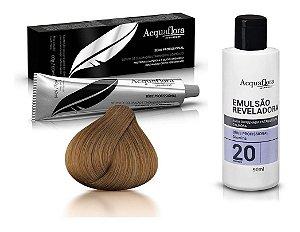 Acquaflora Kit Coloração 7.0 Louro Natural + Emulsão 20vol