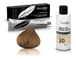 Acquaflora Kit Coloração 7.0 Louro Natural + Emulsão 30vol
