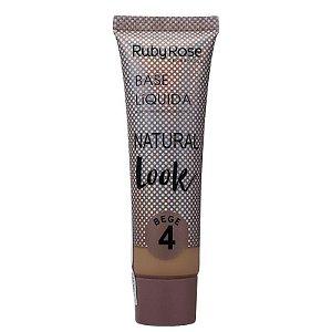 Ruby Rose Base Líquida Natural Look - Cor Bege 4