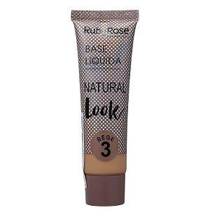 Ruby Rose Base Líquida Natural Look - Cor Bege 3