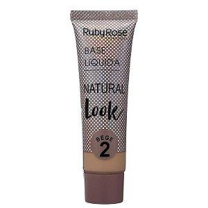 Ruby Rose Base Líquida Natural Look - Cor Bege 2