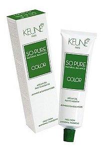Keune So Pure Color 9.12 Louro Muito Claro Cinza Pérola 60ml