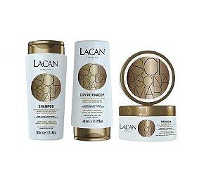 Lacan Mar Sol e Piscina - Kit Shampoo Condicionador e Máscara