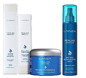 Lanza Healing Moisture - Kit Shampoo Condicionador Máscara e Leave-in
