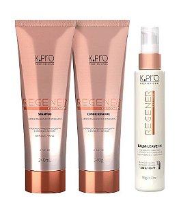 Kpro Regener K.A.P Complex - Kit Shampoo Condicionador e Leave-in